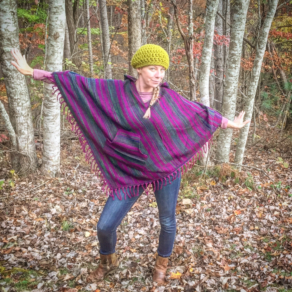 Warm Triangle Poncho