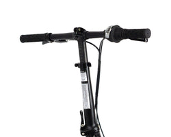 | variant=red, allow-fullscreen, adjustable stem on a zizzo liberte lightweight folding bicycle.