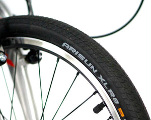 feature=tires, allow-fullscreen, high pressure road bike style tire on a zizzo liberte lightweight folding bicycle, great for recreation and bicycle commuting.