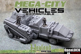 Mega - City Vehicles : 3D Printable Files  Late Pledge