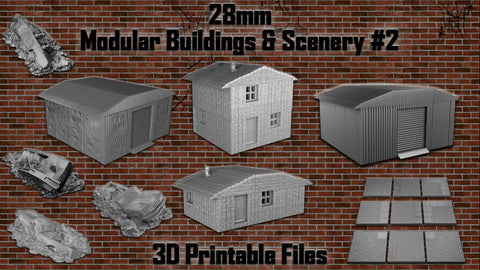 Late Pledge - 28mm Modular Buildings & Scenery - OpenLOCK 3D Printable #2
