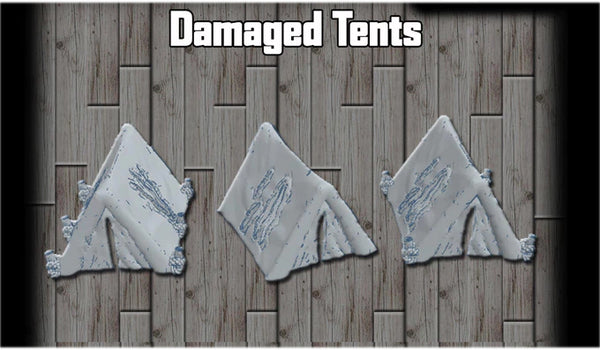 28mm Damaged Tents