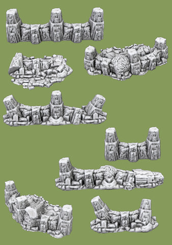 Dwarven Defence line Destroyed - 3D Printable