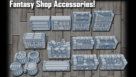 28mm Fantasy Shop Accessories