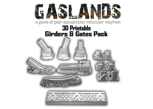Gasland Girders and Gates Pack - 3D Printable