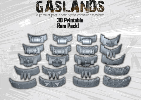 Gaslands Ram Pack! - 3D Printable