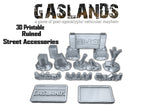 Gaslands Street Ruins Accessories Pack - 3D Printable