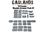 Gaslands Wooden armour pack #1 -  3D Printable
