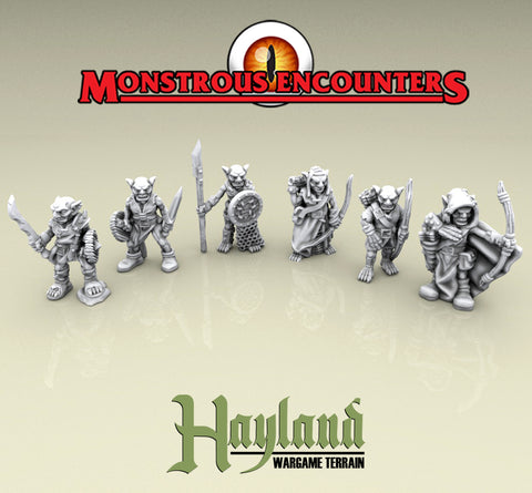 28mm Resin Goblin Fighters & Archers (6)