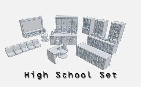 28mm High school Accessories