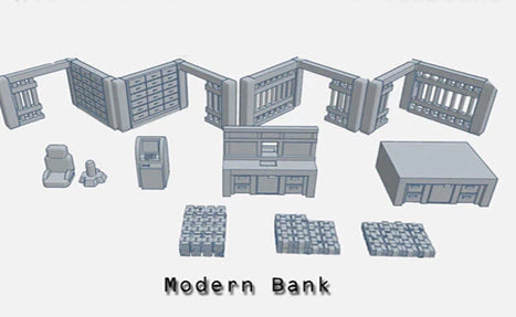 28mm Modern Bank Accessories