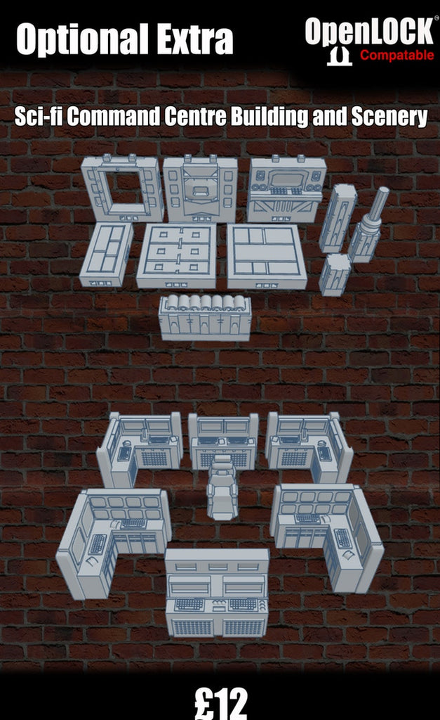 Sci-fi Command Center Building and Scenery - OpenLOCK