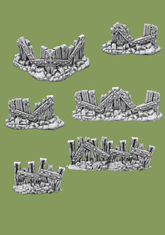 Shanty Fences - 3D Printable