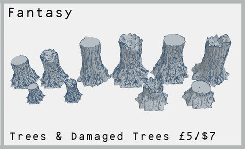 Trees and Damaged Tree Set