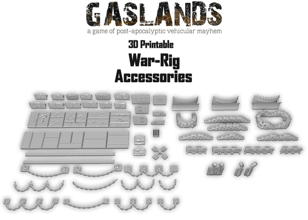 Gaslands War-Rig Accessories - 3D Printable