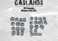 Gaslands Weapon Pack 5 - 3D Printable