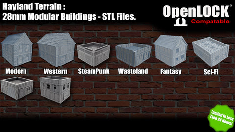 28mm Modular Buildings - STL Files - OpenLOCK #1
