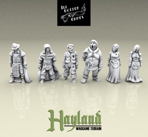 28mm Resin Undead Townsfolke (6)