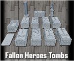 28mm Fallen Heroes Tombs