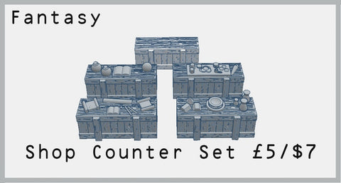 Fantasy Shop Counter Set