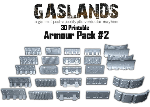 Gaslands Armour Pack #2 - 3D Printable