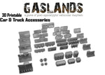 Gaslands Car & Truck Accessories - 3D Printable