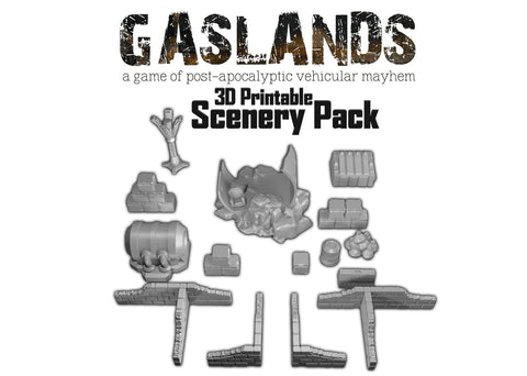 Gaslands Scenery Pack - 3D Printable