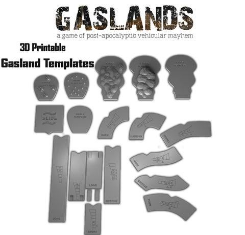 Gaslands Templates - 3D Printable