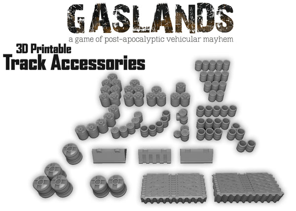 Gasland Track Accessories - 3d Printable