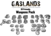 Gaslands Weapon and Armour Pack - 3D Printable
