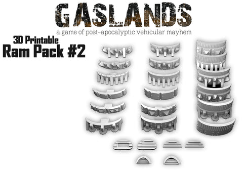 Gaslands Ram Pack #2 - 3D Printable