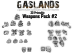 Gaslands Weapon Pack 2 - 3d Printable