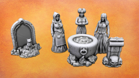 The Witch Sisters - Resin Miniatures