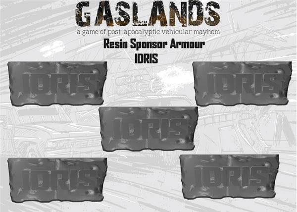 Pre-order Gaslands Resin - Sponsor Armour 5 Pack - IDRIS