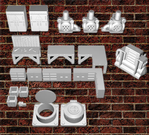 28mm Maintenance room accessories