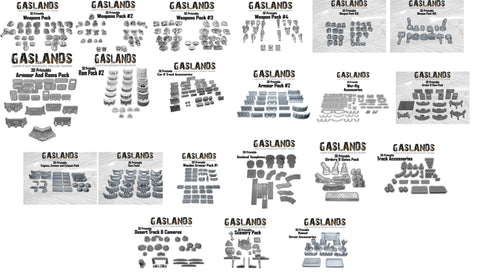 Gaslands 3D Printable Files Mega Bundle - With Tyres!