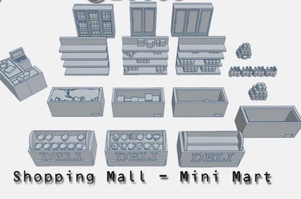28mm Mini Mart Accessories