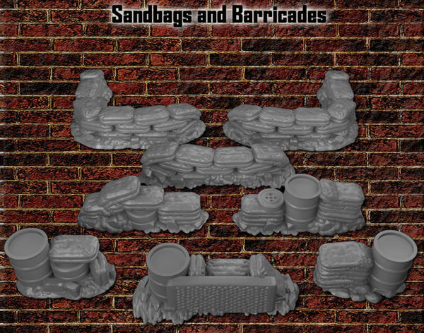 28mm Sandbags and Barricades
