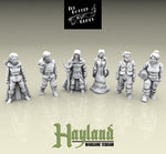 28mm Townsfolke - Travelers, Farmer, Drunkard  & Hunter (6)