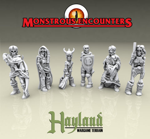 28mm Resin Undead Adventurers (6)