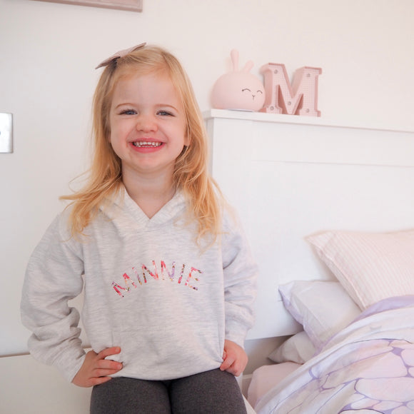 Children's Personalised Hoodie - Floral