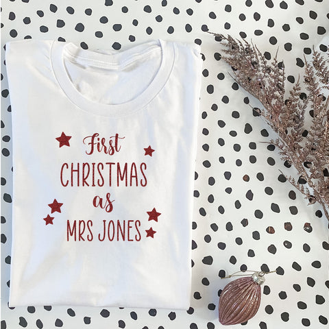First Christmas As Mrs T-Shirt