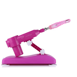 Noiseless Retractable Sex Machine Gun for women with 8 different attachments  AU Adaptor