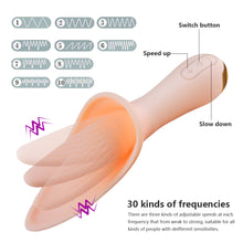 30 Speeds Powerful Oral Clit Tongue Licking Vibrators, Clitoris Stimulator G Spot Vibrator sex toys for women