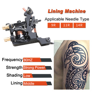 4 pcs Professional Tattoo Machines Dragonhawk Fine Lining Shading Tattoo Gun Coloring Lining 10 Wraps