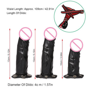 Double-ended Strap-on Dildos Mouth Gag Detachable Dildos Harness Strap Adjustable Strap On 3Pcs Dildos Sex Toys For Women Men