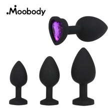 Heart shape S/M/L 3Pcs Silicone Anal Plug Prostate Massage G-spot Stimulator Anal Beads Adult Sex Toys