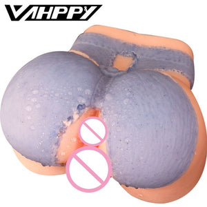 1.3-1.5kg Silicone Big Ass 3D sex doll artificial vagina Double Channels Sex Toys for Men Male masturbator Masturbate for man