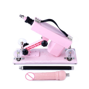 Sex Machine For Women Automatic Retractable Vibrator Pumping Gun, Love Robot Machine Big Dildos and Extension Rod