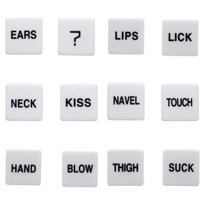 2Pcs Gambling Dices 12 Side Adult Games For Couples Dices Romance Love Humour Erotic Craps Pipe Sex Toys